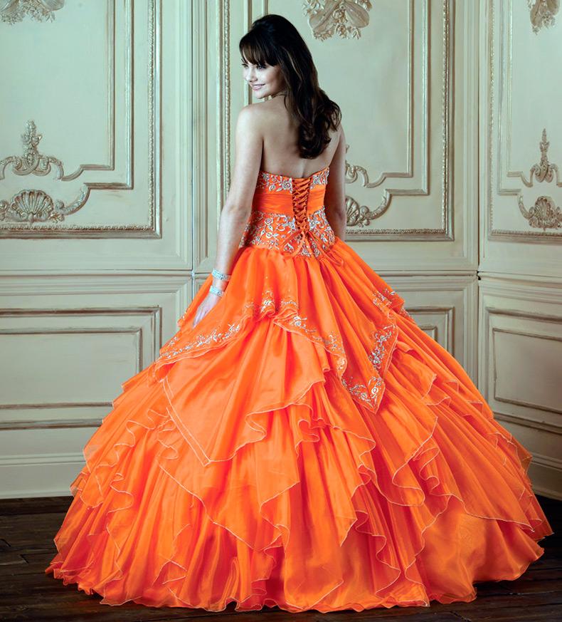 Оранжевые платья свадебные