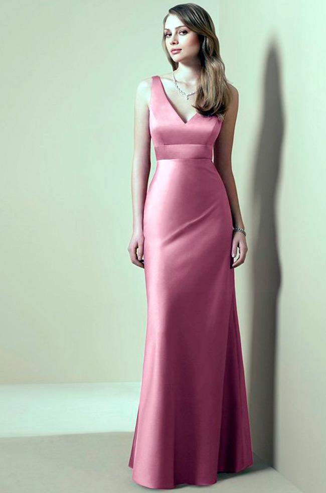 Розовые длинные платья фото