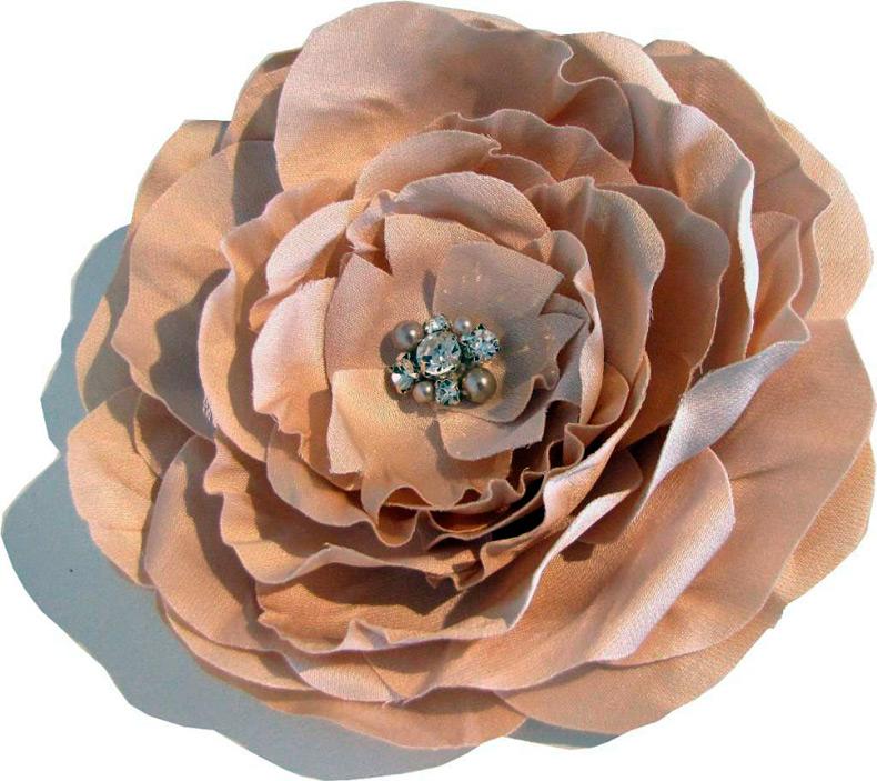 Как сделать цветы из шифона для платья 43