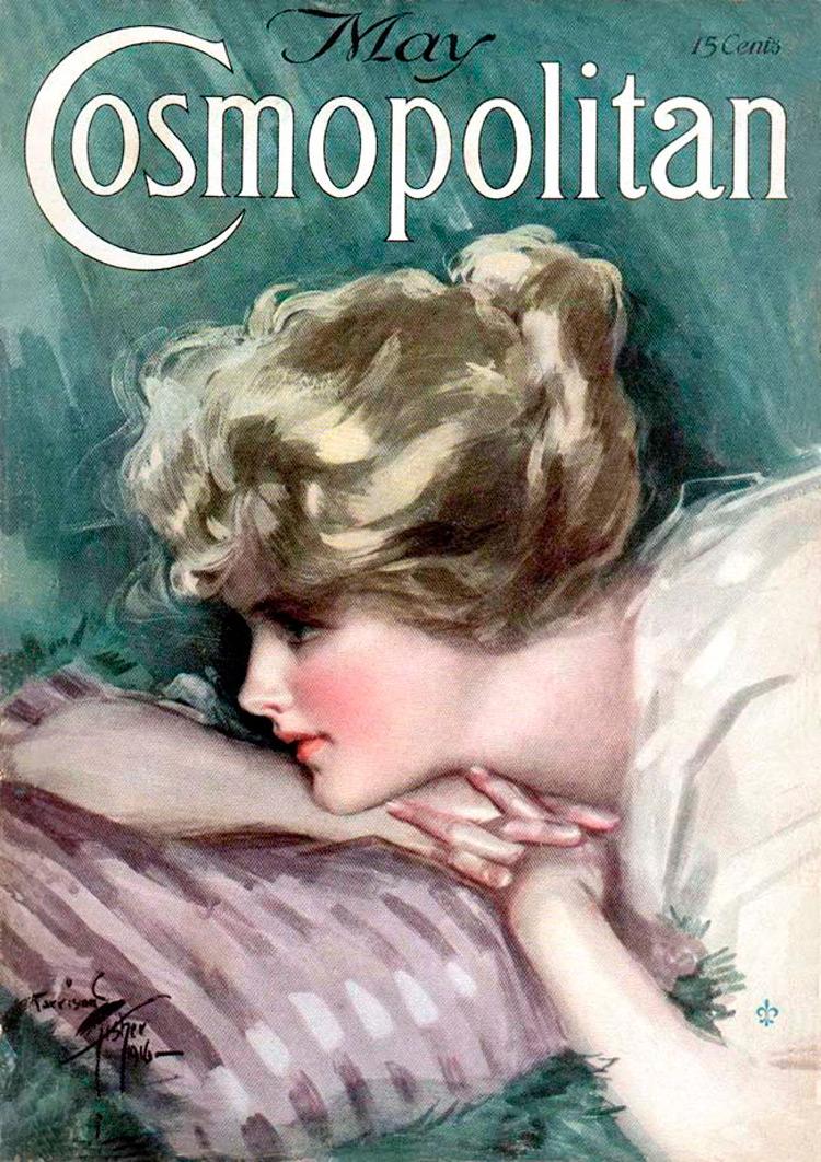 Винтажные модные иллюстрации, Cosmopolitan фото