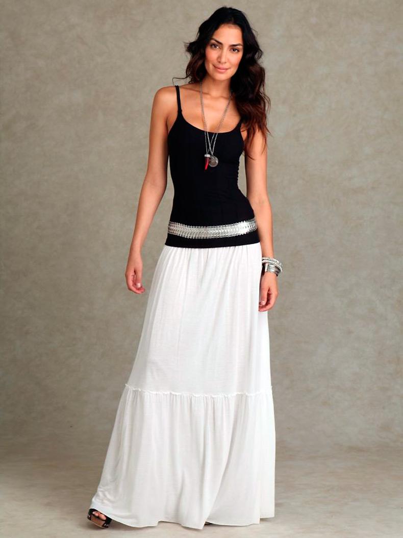 Длинная юбка, макси-юбка фото