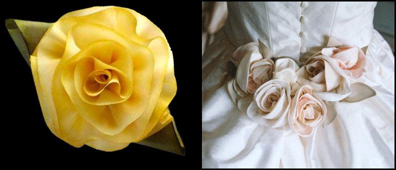 Цветы из ткани фото вазочки
