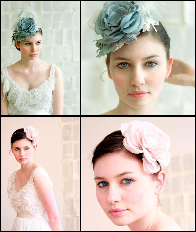 Цветы из ткани для волос