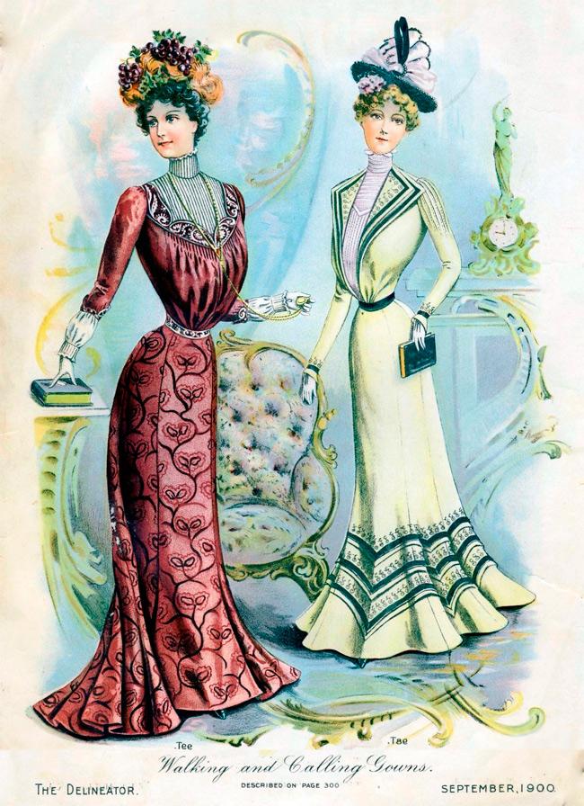 Винтажная мода две девушки с книгами