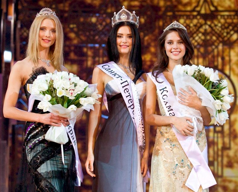 Красивые россиянки – участницы конкурсов красоты, фото
