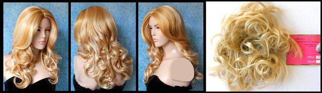 Парики из натуральных и искусственных волос, блонд