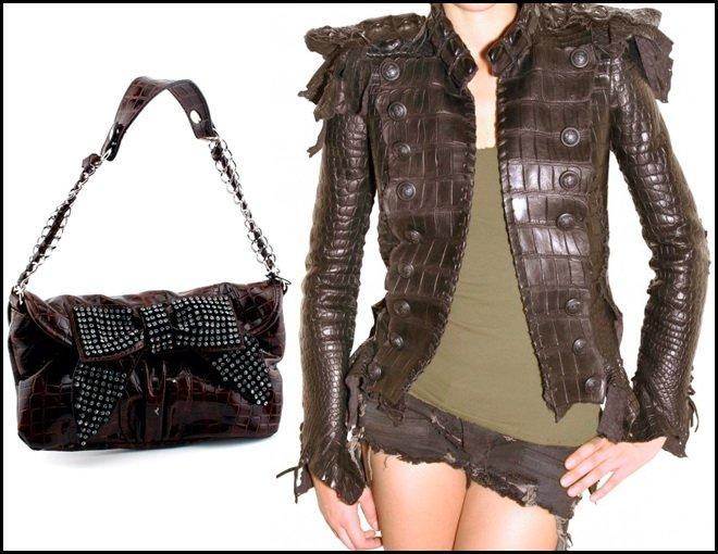 куртка из кожи крокодила фото