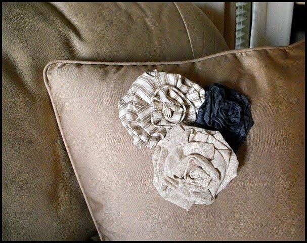 Декоративные цветы из ткани