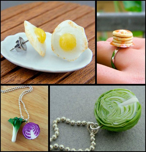 Бижутерия – яичница и овощи фото