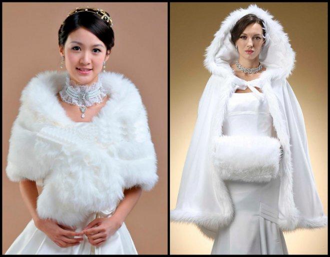 Свадебные накидки из меха