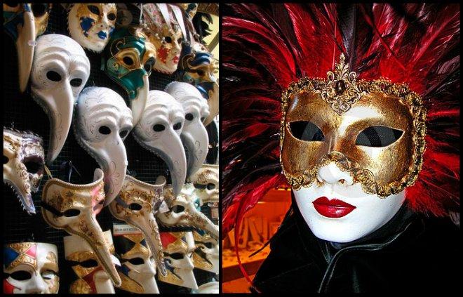 карнавальные маски Венеция