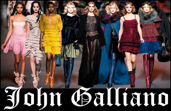 Джон Гальяно и платья для Диор