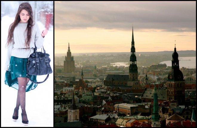 Una фэшн-блоггер из Латвии