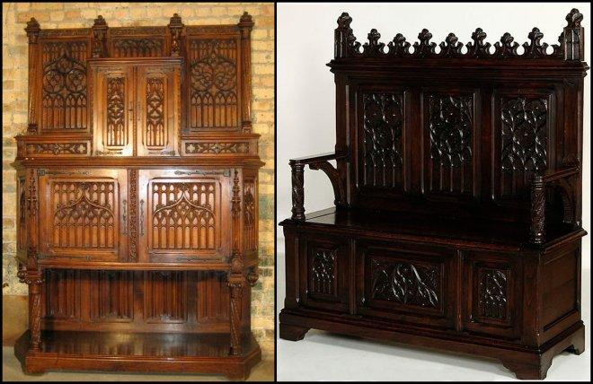 Антикварная мебель в готическом стиле
