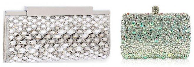 клатчи с кристаллами Сваровски