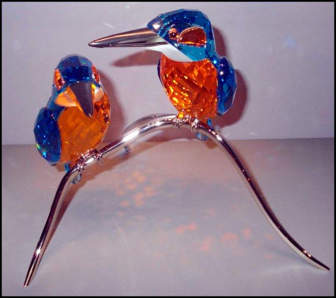 птички с кристаллами Сваровски
