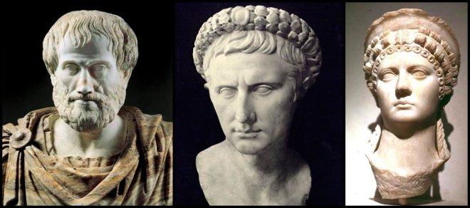 Модные прически Аристотель, Октавиан Август, Поппея Сабина