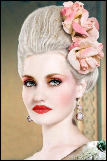 Девушки и макияж эпохи рококо