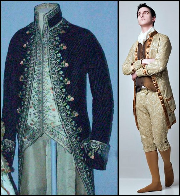 Мужской костюм эпохи рококо