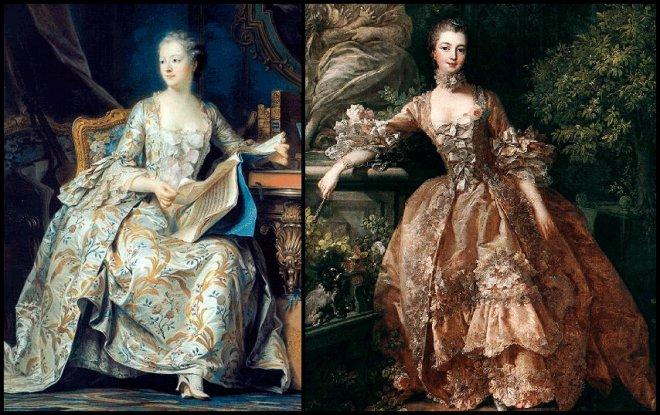 Женский костюм эпохи рококо