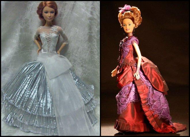 Шикарные платья для куклы Барби