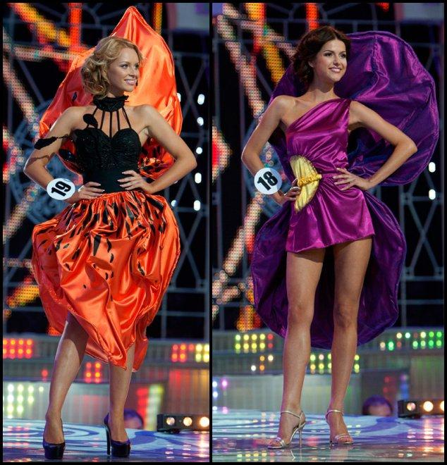 Мисс-Беларусь выход в костюмах цветов