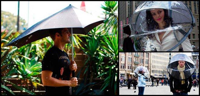 необычные зонтики от солнца и дождя