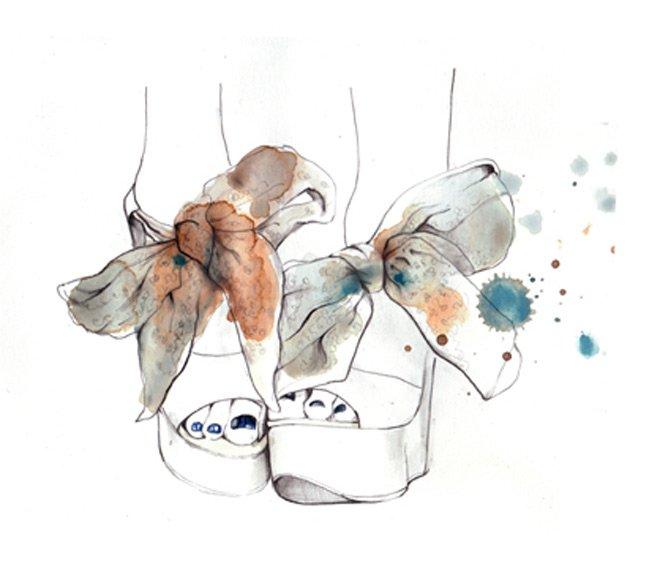 фэшн иллюстрации Сары Ханкинсон