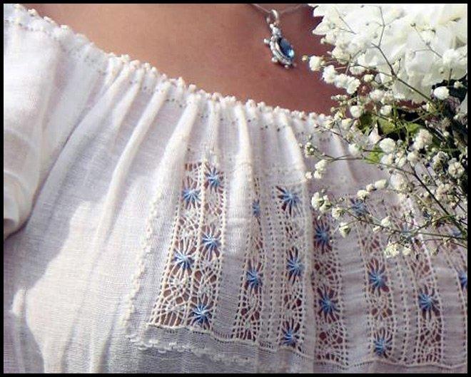 стиль вышивки мережка