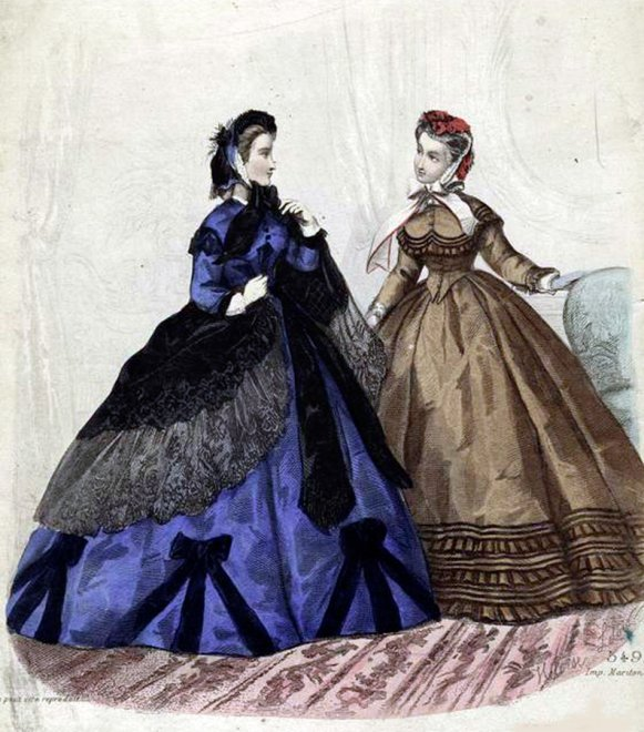 Антикварная Fashion иллюстрация
