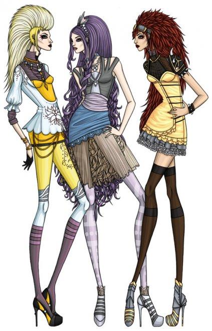 Современная Fashion иллюстрация