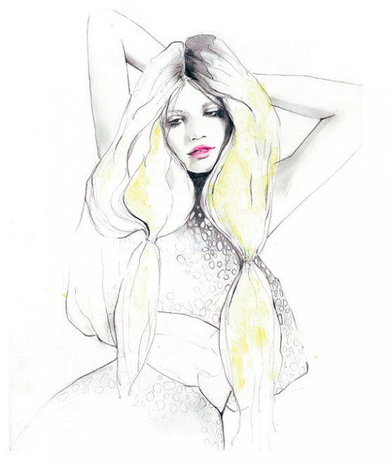 красивые фэшн иллюстрации Сары Ханкинсон