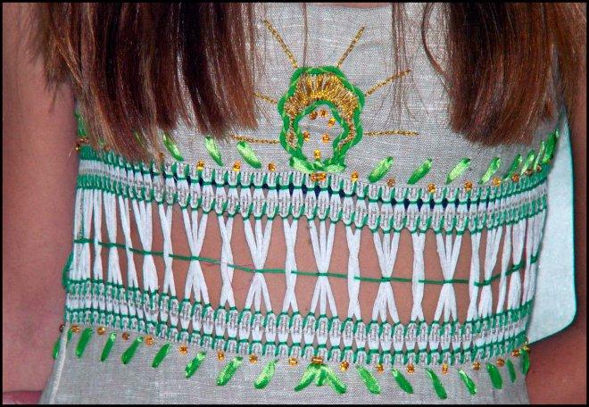 Вышивка с применением техники мережка