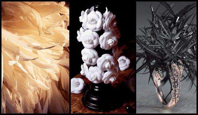 Украшения из перьев и цветов от Дома Лемарье