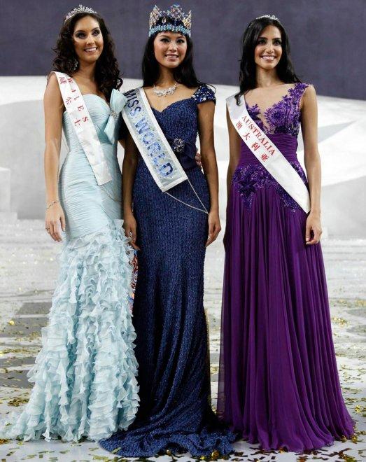 Участницы конкурса красоты Мисс мира 2012