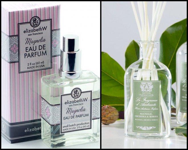 Селективная парфюмерия с ароматом цветов магнолии