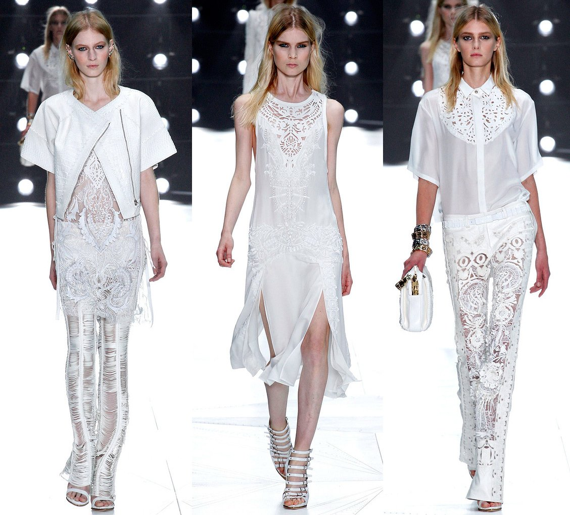 Платье белое роберто кавалли
