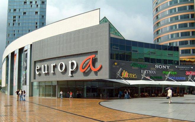 Шоппинг в Вильнюсе, Торговый центр Europa