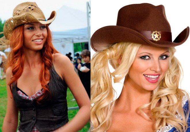 Ковбойская женская шляпа