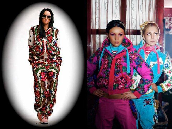 Павловопосадские платки и девушки