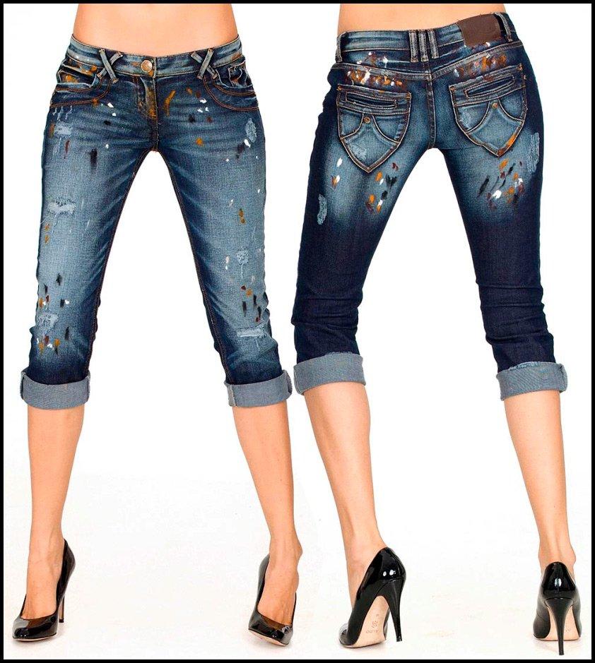 Как из джинсов сделать бриджи фото 50