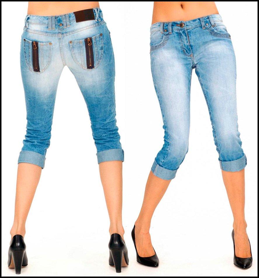 Как из джинсов сделать бриджи фото 461