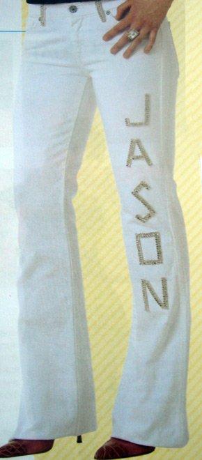Авторские именные джинсы со стразами