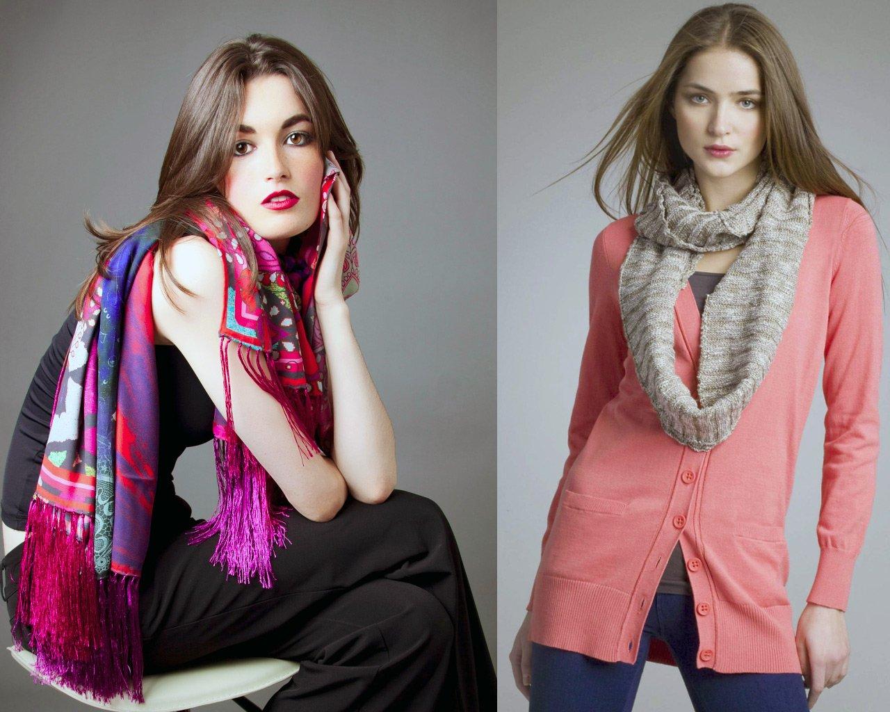 Красивые шарфы фото