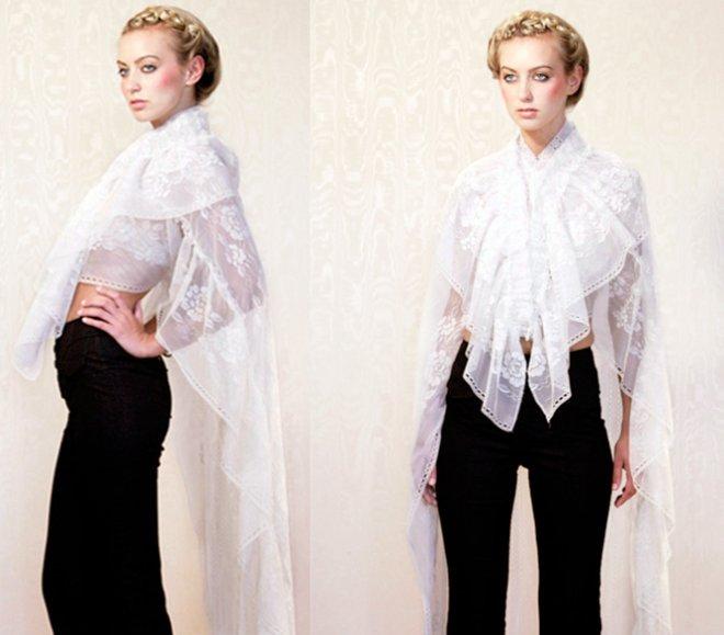 Как носить современную шаль фото