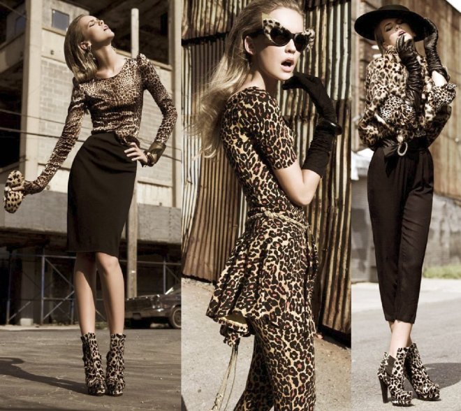 леопардовый принт в моде осенью 2012