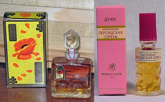 Советская парфюмерия, винтажные духи