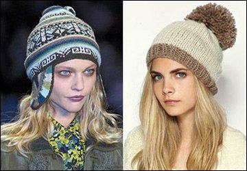 Вязаные шапочки зима 2012-2013