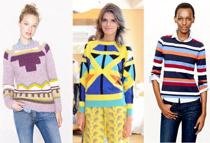 Модные женские свитеры осень зима 2012-2013