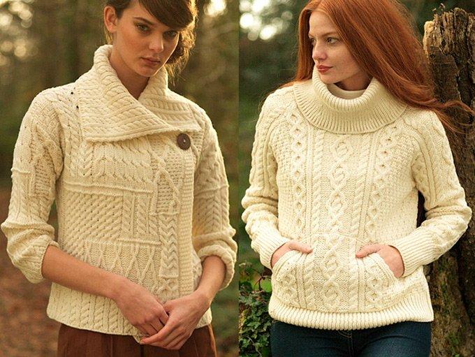 ирландские узоры Модные женские свитеры